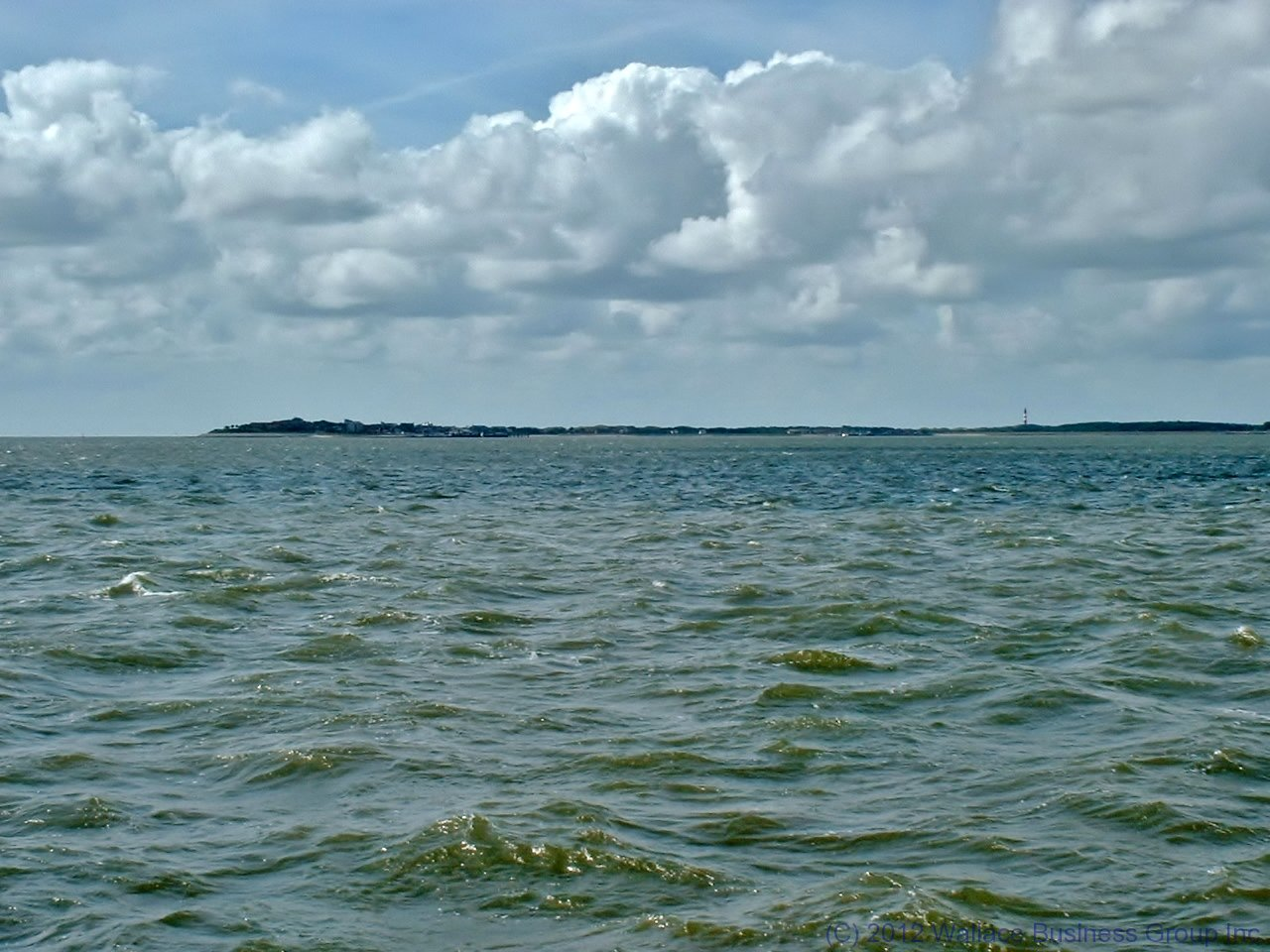 Approaching Amrum from Föhr