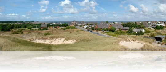 The Village of Wittdün the main settlement of the island Amrum
