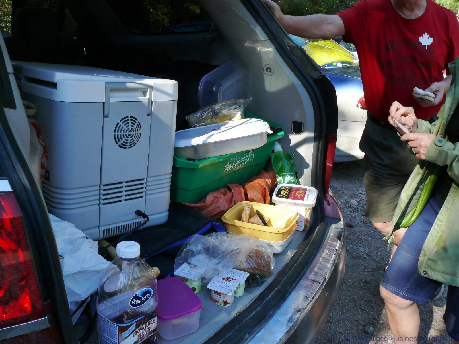 Our Tailgate feast after an arduous hike!