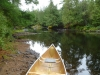 The start of our 500m portage! It seemed MUCH longer!