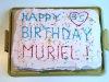 Muriel's 95th Birthday Cake fresh from the Wallace Bakery...