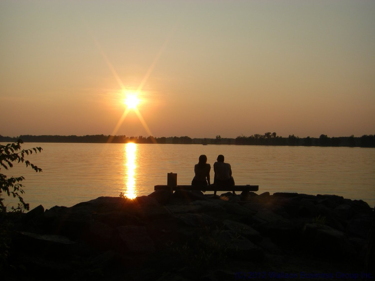 A Romantic Couple atSunset at Petrie Island on the Ottawa River