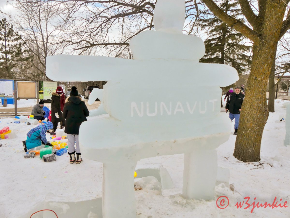 An Ice Sculpted Inukshuk