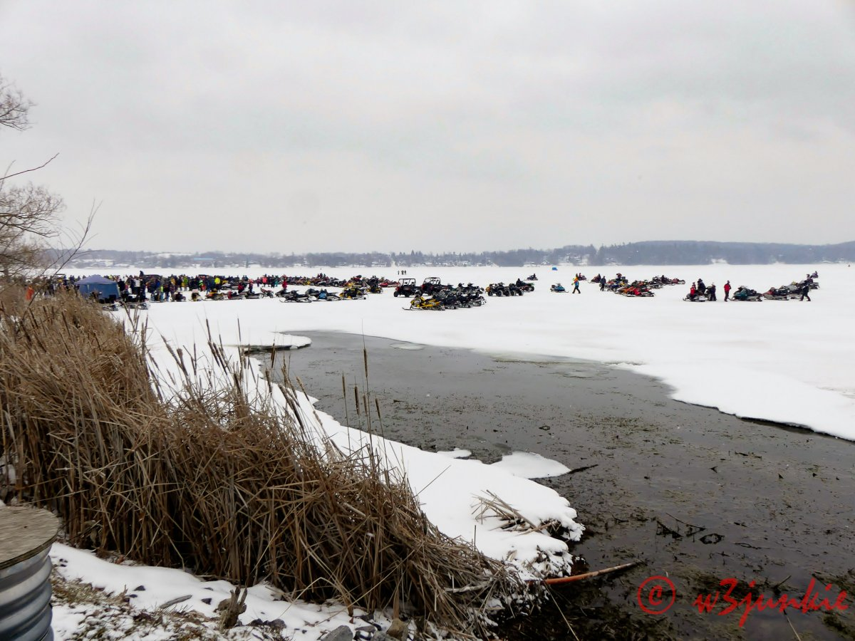 Polar Plunge on Lake Chemong in Ennismore