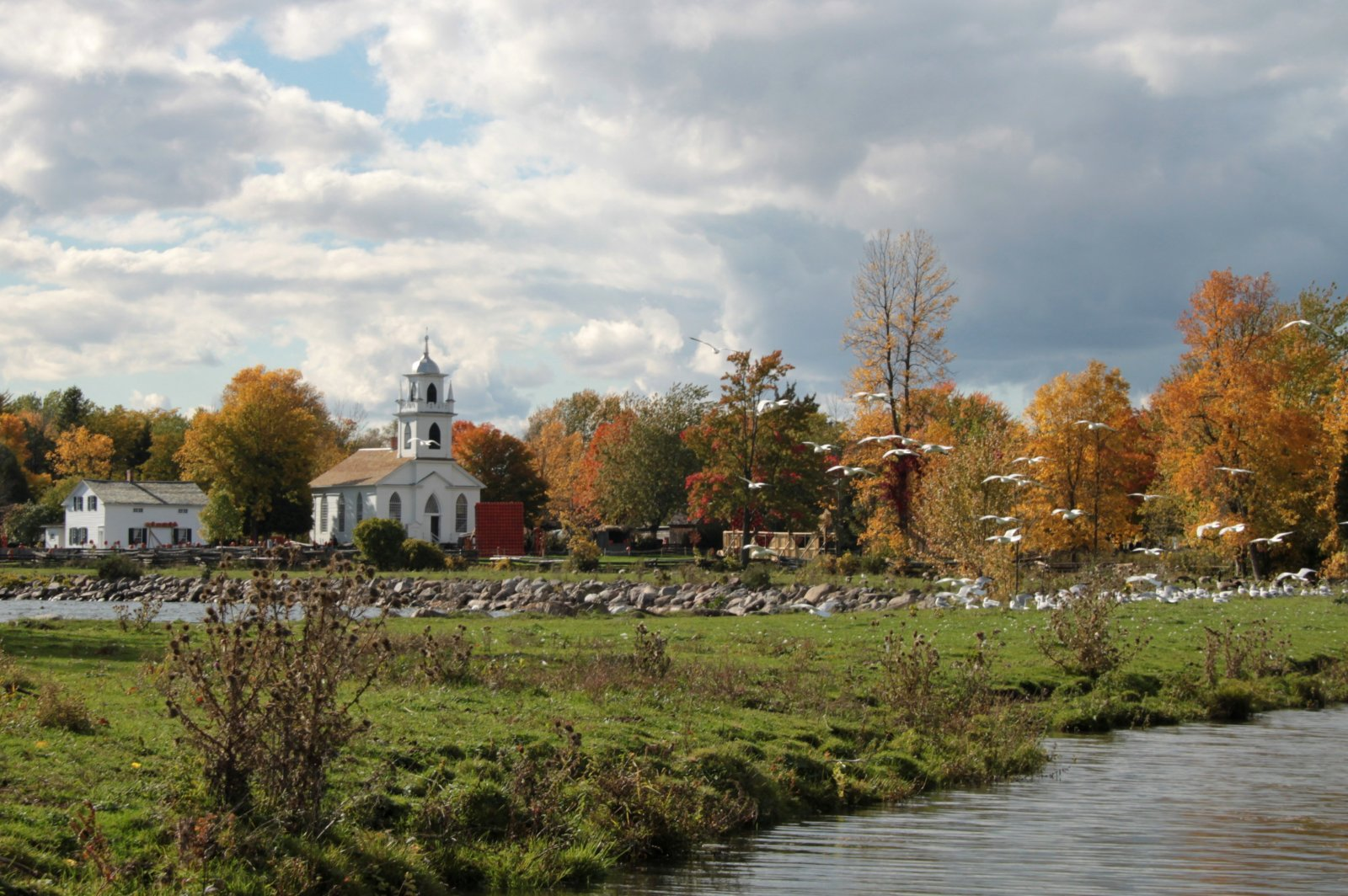 A Perfect Fall Scene at Upper Canada Village
