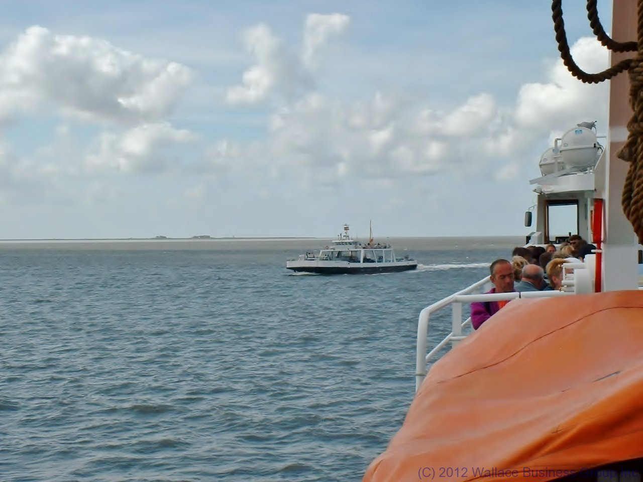 The Ferry from Dagebüll to Wik and Amrum