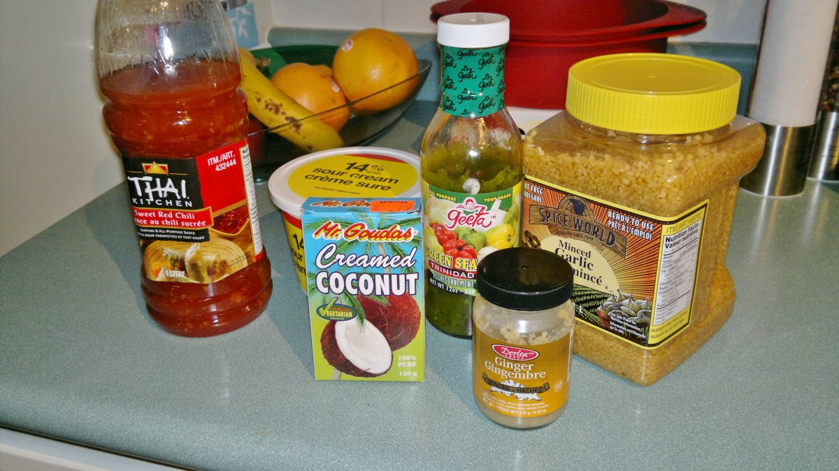 Coconut Ginger Chicken Ingredients