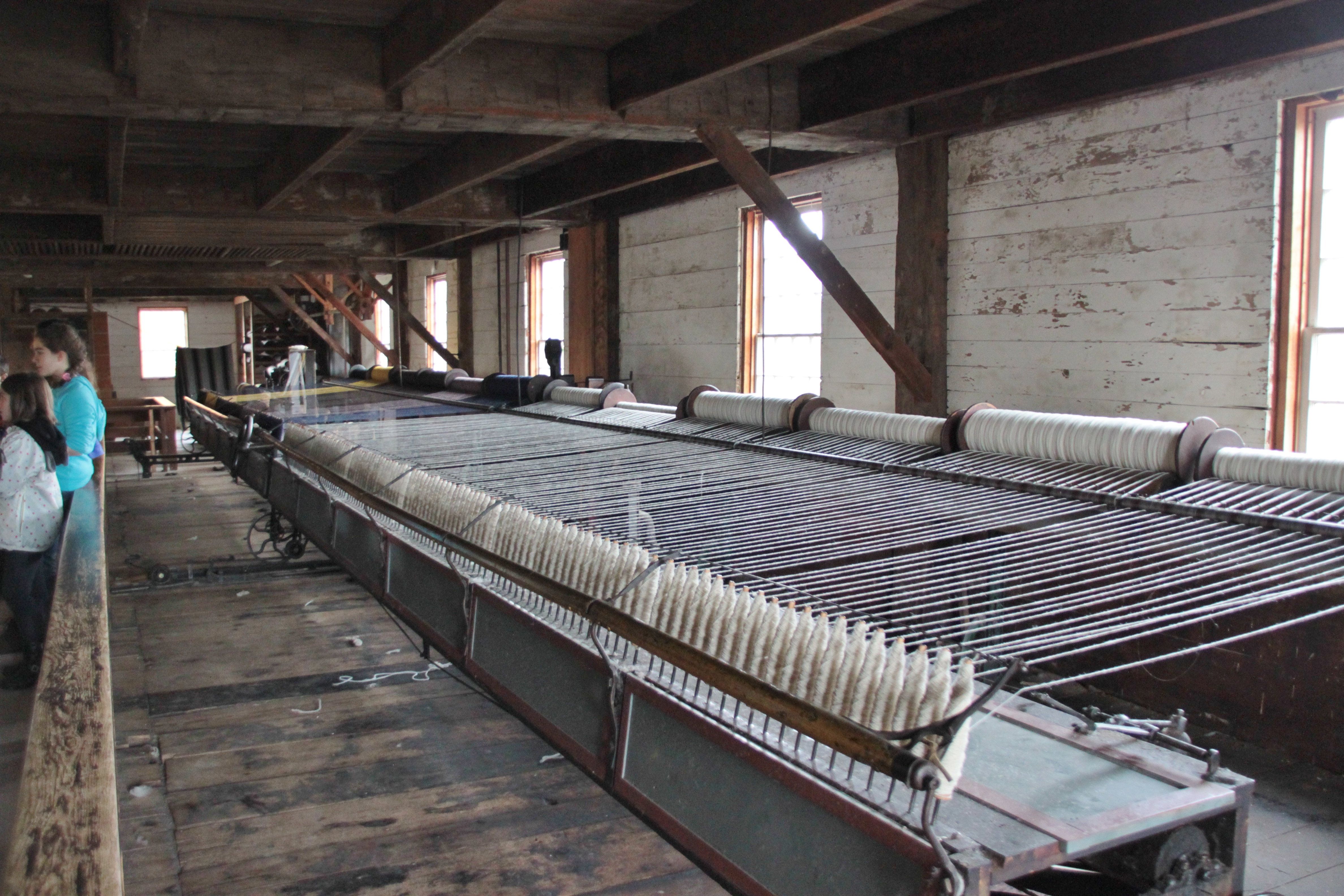 Machinery at Woolen Mill